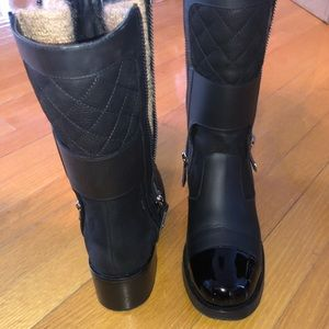 CHANEL Shoes - AUTHENTIC CHANEL mid-calf leather boots sz 36.5